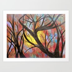 Tree branches Art Print