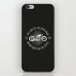 The lure of the open road never goes out of style iPhone Skin