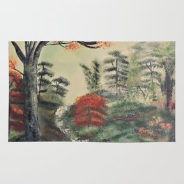 The green forest Rug