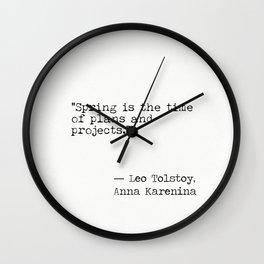 Leo Tolstoy Anna Karenina novel quote Wall Clock