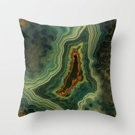 The world of gems - green agate Throw Pillow