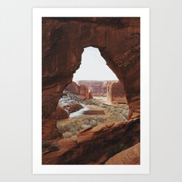 Window Rock Art Print