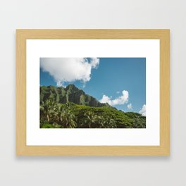 Hawaiian Mountain Framed Art Print