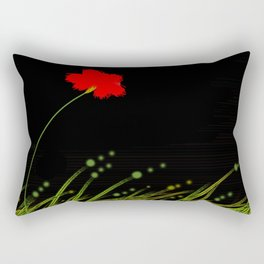 A red flower Rectangular Pillow
