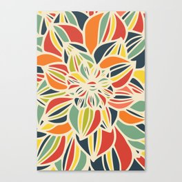 Vintage flower close up Canvas Print