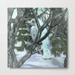 Into The Wild Snowy Owl Metal Print
