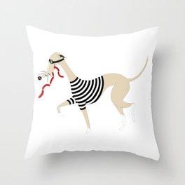 Whippet Thief Throw Pillow