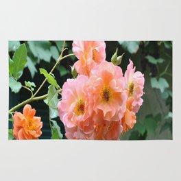 Peach Flowers Rug