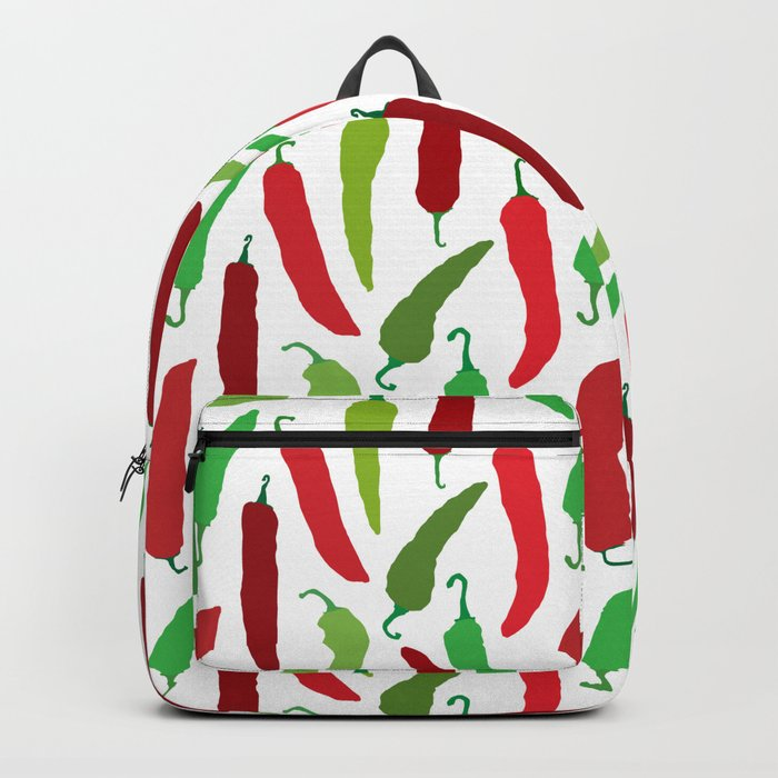 New Mexico Christmas Hatch Chiles in White Backpack