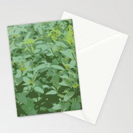 Yellow Flower Grass Stationery Cards