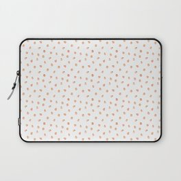 Sweet Peach Polka Dot, White Laptop Sleeve
