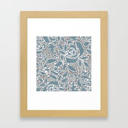 Floral lace Framed Art Print
