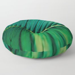 Green Leaf Palm Frond Photo Floor Pillow