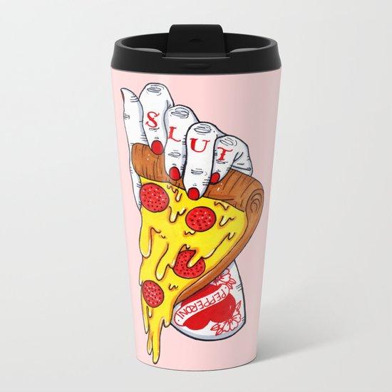 Pizza Slut Metal Travel Mug