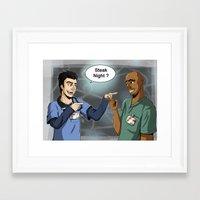 scrubs Framed Art Prints featuring Steak Night of J.D. and Turk (Scrubs) by Matteo Tosin