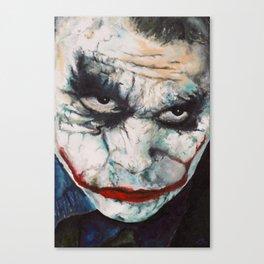 Heath Ledger, The Joker Canvas Print