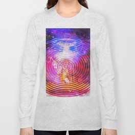 Hendrix Abduction Moire Long Sleeve T-shirt