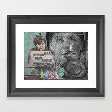 STRANGE DAYS ANGELA! Framed Art Print