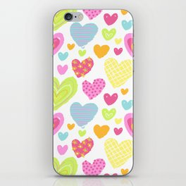 spring hearts iPhone Skin