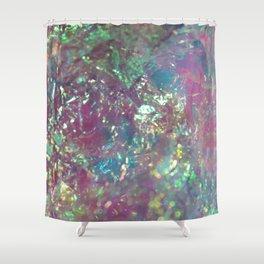 Iridescent Cellophane Shower Curtain