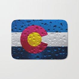 Flag of Colorado - Raindrops Bath Mat