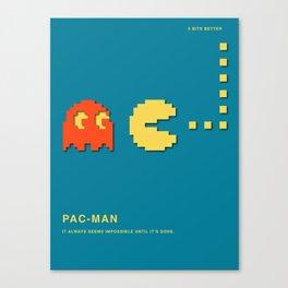 8 BITS BETTER -  PAC-MAN Canvas Print