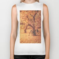 new york city Biker Tanks featuring Autumn - New York City by Vivienne Gucwa