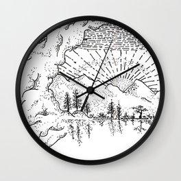 Sketch 37 - Mountain View Wall Clock
