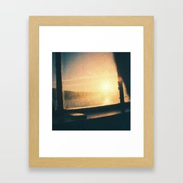 sun outside Framed Art Print
