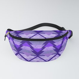Geometric Forest on Purple Fanny Pack