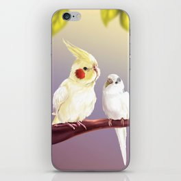 Budgie and Cockatiel iPhone Skin