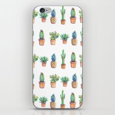 cactus and pineapples white! iPhone & iPod Skin