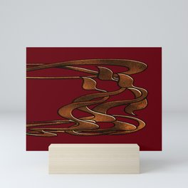 Art  Nouveau  red gold horizontal  Mini Art Print