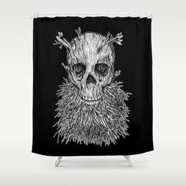 Lumbermancer B/W Shower Curtain