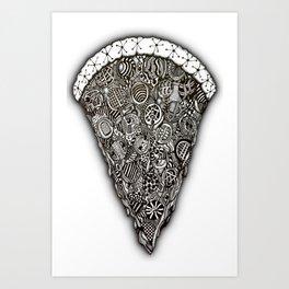 Pizza doodle... Art Print