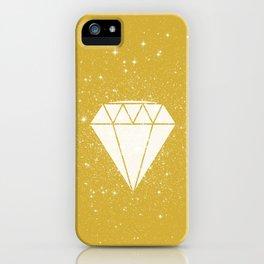 Space Diamond (gold) iPhone Case