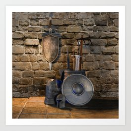 Medieval Weaponry Art Print