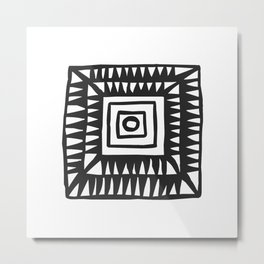 Tribal Print B&W- 02 Metal Print