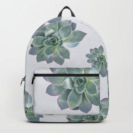Succulent botanic print grey Backpack