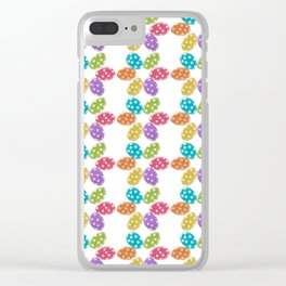 Colorful Easter eggs pattern Clear iPhone Case