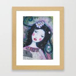 Apple Blossom Snow White Framed Art Print
