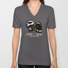 1993 - 2021 Daft Punk we miss you Unisex V-Neck