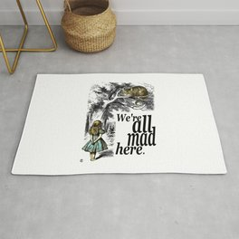 We Are All Mad Here - Alice In Wonderland Quote Rug