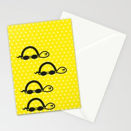 """""""I can swim in YELLOW polka dot!"""" Stationery Cards"""