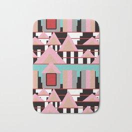 Postmodern City Skyline Bath Mat