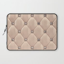 Beige upholstery pattern Laptop Sleeve