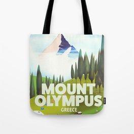 Mount Olympus, Greece, Travel poster Tote Bag