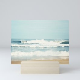 Ocean Photography, Calming Sea Photo, Blue Waves Seascape Photograph, Beach Print Mini Art Print