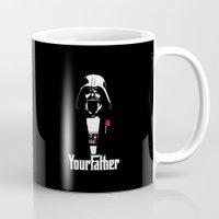 darth vader Mugs featuring Darth Vader by Jason Vaughan