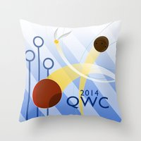 quidditch Throw Pillows featuring Quidditch World Cup 2014 by makoshark